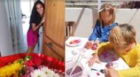 Antonio Pavón sorprende a su novia con flores mientras ella cuidaba a Antoñito [VIDEO]