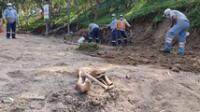 Según los expertos los restos humanos serían piernas