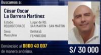 Ministerio del Interior incluye a César La Barrera Martínez en el Programa de Recompensas