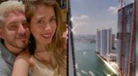Pedro Moral rompió chanchito y viajó con su novia a Miami.