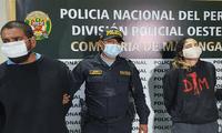 Dos delincuentes fueron capturados tras el robo de celulares con arma de fuego en el distrito de San Miguel.