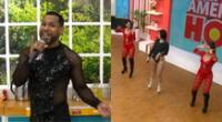 Explosión de Iquitos llegó al set de América Hoy para interpretar el tema que han hecho viral, y Giselo sorprendió al cantar con ellos.