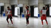 Peculiar baile del futbolista de Melgar se viralizó en las redes sociales.