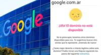 Google estuvo a punto de perder su dominio en Argentina.