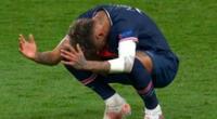 Neymar oró al terminar el partido, pero luego mostró su desazón por el resultado.
