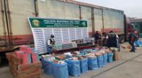 La mercadería incautada y el vehículo fueron llevados a la sede de la Policía Fiscal