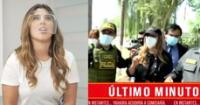 Yahaira Plasencia llega a la comisaría de Cieneguilla.