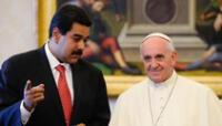"""Papa Francisco manifiesta estar en contra de toda """"intervención de afuera"""" en Venezuela."""