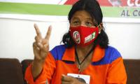 Isabel Cortez muestra su apoyo al líder de Perú Libre, Pedro Castillo.