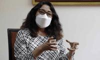Violeta Bermúdez mostró su entusiasmo por llegada de vacunas a todas las regiones.