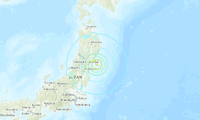 Lugar del sismo en Japón