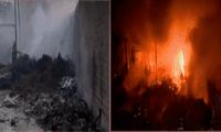 Bomberos controlan incendio en dos depósitos de madera en Puente Piedra