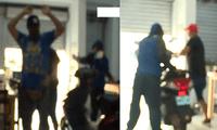 dos delincuentes a mano armada asaltaron una cevichería