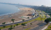 Un carril de la Costa Verde fue cerrada por desprendimiento de piedras en Chorrillos