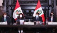 La presidenta del Consejo de Ministros, Violeta Bermúdez, asistió a la conferencia junto al ministro de Justicia, Eduardo Vega; de Salud, Óscar Ugarte; y de Comercio Exterior y Turismo, Claudia Cornejo.