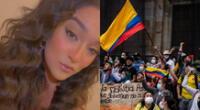 La cantante Daniela Darcourt recordó que Perú vivió una situación similar hace unos meses, y mandó fuerza a Colombia en un emotivo mensaje.