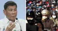 Filipinas: Presidente Rodrigo Duterte ordena arrestar a las personas que lleven mal la mascarilla.