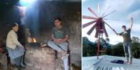 El 'Domador del viento' también creó un cargador de teléfonos celulares y ha ganado Beca del Pronabec.