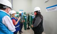 Fiorella Molinelli estuvo presidiendo la inauguración de la nueva planta de oxígeno que salvará vidas de pacientes COVID-19.