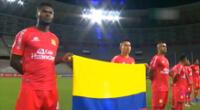 Sport Huancayo y su emotivo gesto con Colombia en la previa del encuentro por la Copa Sudamericana.