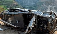 Patrulla se despista y cae a un abismo en Yauyos