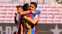 Lionel Messi y Luis Suárez juntos en la cancha, pero como rivales.