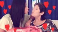 Pamela Franco saluda su madre por su día.