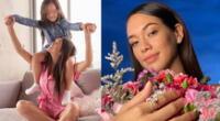 Jazmín Pinedo es sorprendida por su hija con tierno regalo.