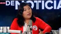 Betsy Chávez es virtual congresista de Perú Libre.