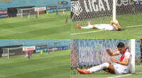 Alexis Cossio falló en dos ocasiones y jugadas se hicieron viral en las redes sociales.
