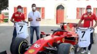 Cristiano visita el cuartel general de Ferrari