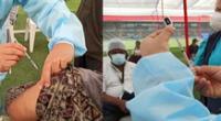 Minsa investiga caso de jeringas sin dosis de Pfizer en vacunación de adultos mayores de 70 años.