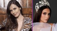 Maju Mantilla le da su apoyo a Janick Maceta en Miss Universo 2021.