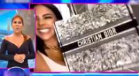Magaly Medina queda en shock con bolso de 4 mil dólares que le regalaron a Tefi Valenzuela