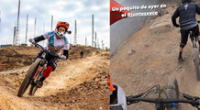 Mario Hart y Hugo García realizan peligroso recorrido en bicicleta por acantilado [VIDEO]