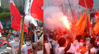 Pedro Castillo y Keiko Fujimori generaron aglomeraciones