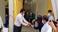 El alcalde de Chosica en plena inauguración