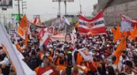 Simpatizantes de Keiko Fujimori se hiceron presentes en debate.