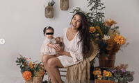 Samahara Lobatón y matching outfit con su hija.