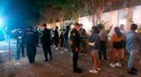 Más de 50 personas fueron intervenidas por la Policía Nacional en una fiesta clandestina