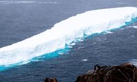 El iceberg A-76 es ahora la pieza de hielo más grande registrada en todo el mundo.