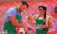 Fabio Agostini y María Victoria Santana se divirtieron en la cocina.