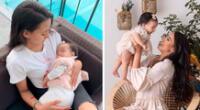 Samahara Lobatón se preocupó por la salud de su hija.