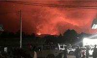 Volcán del Congo que entró en erupción