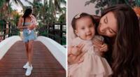 Samahara Lobatón feliz con el crecimiento de su hija Xianna.