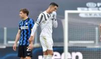 Cristiano Ronaldo no estuvo presente en el encuentro contra Bolonia, pero igual festejo.