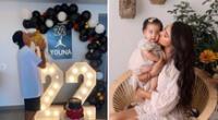 Samahara Lobatón y Youna disfrutan de su hija Xianna.