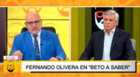 Beto Ortiz aceptó que Popy Olivera fue quien lo llamó para concretar la entrevista.