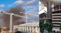 Hasta el momento, se desconoce la magnitud y las causas del origen del incendio en el estadio del Real Madrid.