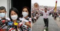 Keiko Fujimori cuestionó a Pedro Castillo en su visita a La Libertad.
